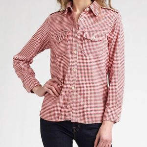 Current/Elliot The Perfect Shirt Red Gingham 3
